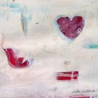 """""""Little Birdie Loves You""""  Mixed Media on Paper  10""""x9"""""""