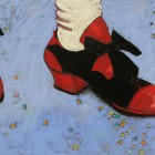 """""""Party Shoes""""  Pastel on Paper  """"24x18"""""""