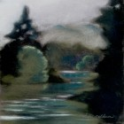 """""""Foggy Morning on the River""""  Pastel on Paper  10""""x10"""""""