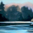 """""""Summer Sunrise on the River""""  Pastel on Paper  12""""x8"""""""